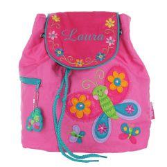 Kinderrucksack rosa Schmetterling mit Name