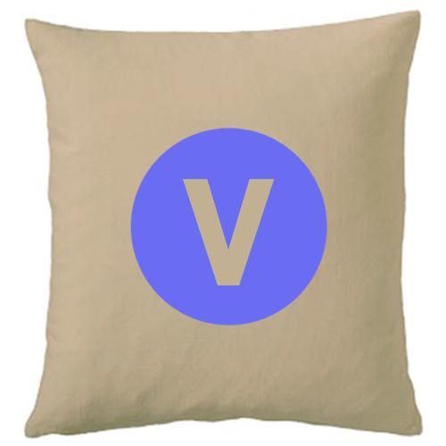 Personalisiertes Kissen beige V