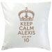 Kissen Keep Calm personalisiert graubruan