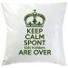 Kissen Keep Calm personalisiert gruen