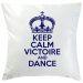 Kissen Keep Calm personalisiert marineblau