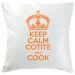 Kissen Keep Calm personalisiert orange