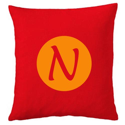 Personalisiertes Kissen rot N