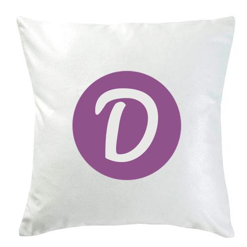 Personalisiertes Kissen weiß D
