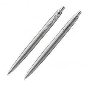 Kugelschreiber Parker Jotter mit Gravur silberfarben