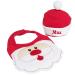 Lätzchen und Weihnachtsmütze mit Name
