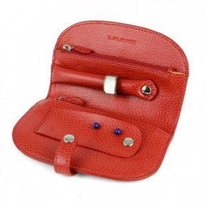Personalisierte Reise-Schmucktasche aus Leder