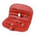 Schmucktasche aus Leder rot