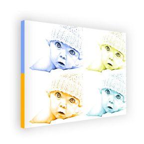 Leinwand einfarbig Querformat 4 Fotos