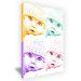 Leinwand Pop Art Querformat einfarbig 4 Fotos