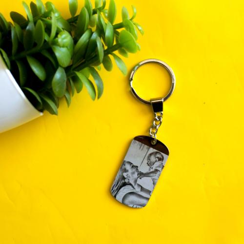 Schlüsselanhänger Platte personalisiert