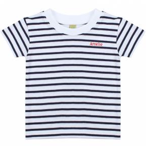Matrosen T-Shirt für Babys mit Name