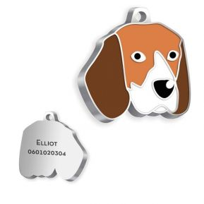 Gravierte Hundemarke Beagle