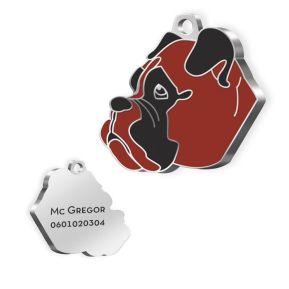 Gravierte Hundemarke Boxer