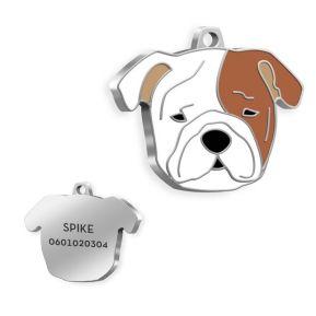 Gravierte Hundemarke Bulldogge