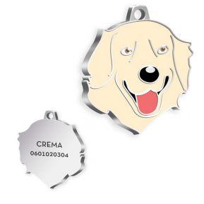 Gravierte Hundemarke Golden Retriever