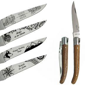 Personalisiertes Messer Laguiole mit Motiven