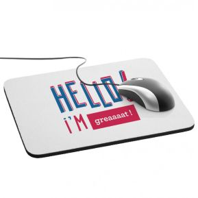 Personalisierbares HELLO Mousepad