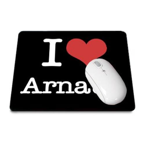 Mousepad I love schwarz