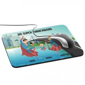 Personalisiertes Mousepad mit Superhelden