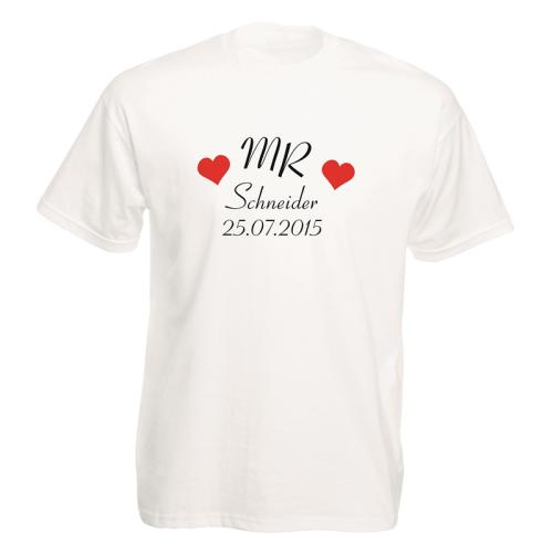 T-Shirt 2er Set mit Namen und Datum