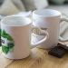 Personnalisierte Tasse mit einer sonnigen Nachricht