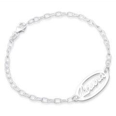 Namensarmband Silber