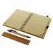 Notizbuch aus Bambus mit Gravur offen