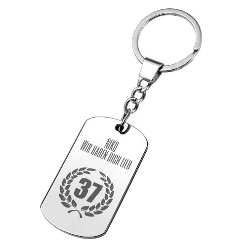 Personalisierter Schlüsselanhänger zum Geburtstag