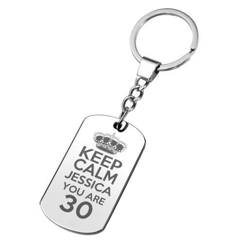 Gravierter Schlüsselanhänger zum Geburtstag