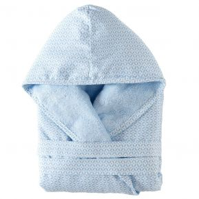 Blauer Baby Bademantel mit Personalisierung