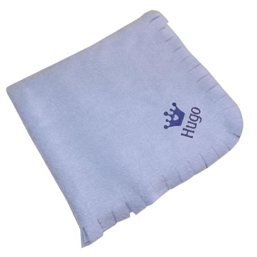 Personalisierte Fleece-Decke für Kinder blau