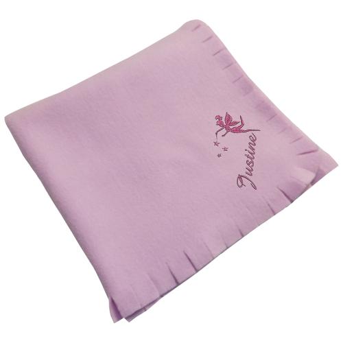 Personalisierte Fleece-Decke für Kinder rosa