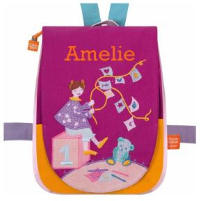 Personalisierte Kindergartentasche Bärchen mit Decke