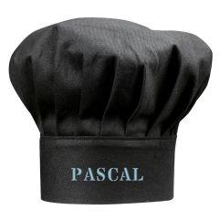 Personalisierte Kochmütze schwarz