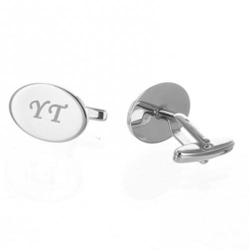 Personalisierte Manschettenknöpfe - oval