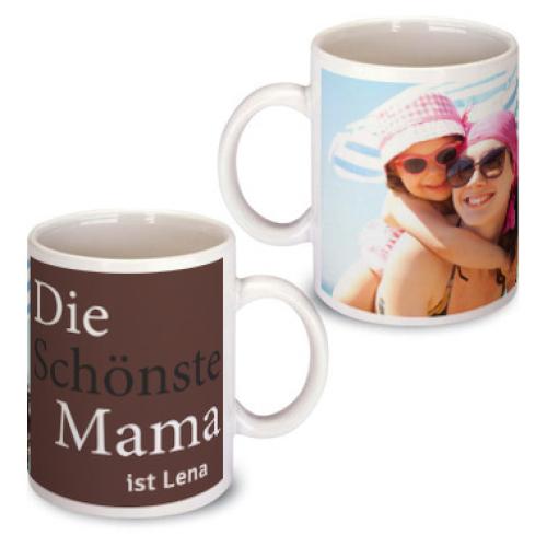 Personalisierte Tasse zum Muttertag braun