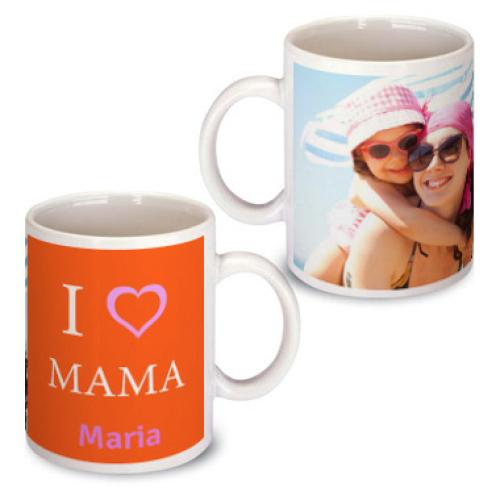 Personalisierte Tasse zum Muttertag orange