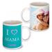 Personalisierte Tasse zum Muttertag türkisblau