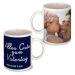 Personalisierte Tasse zum Vatertag marineblau