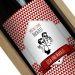 Personalisierte Weinflasche Label rot