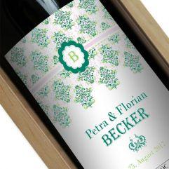 Personalisierte Weinflasche Rokoko