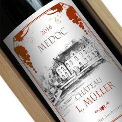 Personalisierte Weinflasche Tradition