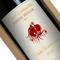 Personalisierte Weinflasche Weihnachten