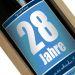 Personalisierte Weinflasche zum Geburtstag blau