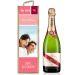 Personalisierte Weinkiste mit Foto rosa