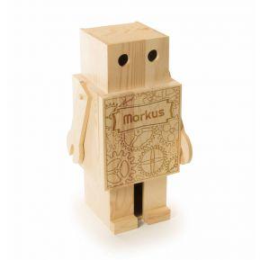 Personalisierte Weinkiste Roboter