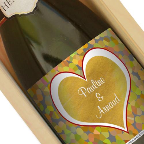 Personalisierter Champagner Love