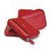Personalisierter Geldbeutel mit Kartenfächern rot
