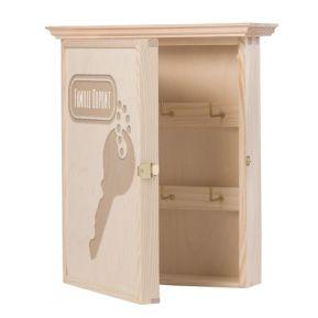 Personalisierter Holz Schlüsselkasten